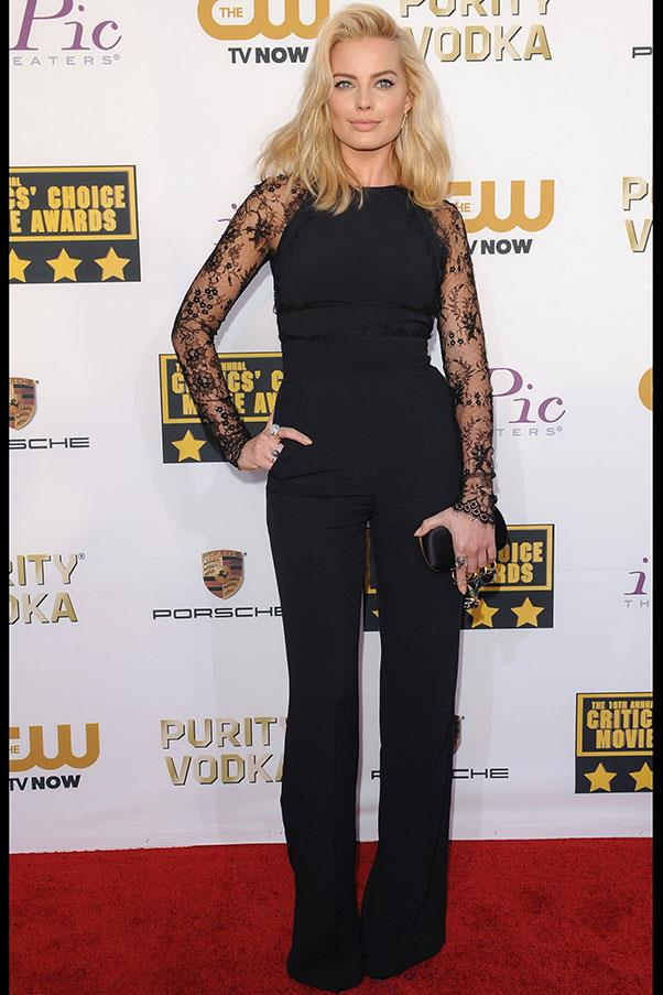 At the Critics Choice Awards, Robbie took a risk by pulling on a jumpsuit (all be it one by Elie Saab) and it well and truly paid off.