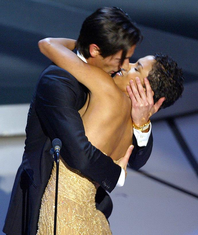"<strong>Adrien Brody, 2003<br></strong> How could anyone forget Adrien Brody winning Best Actor for The Pianist, receiving a standing ovation, excitably approaching the stage, kissing presenter Halle Berry then suavely turning to her to say, ""I bet they didn't tell you that was in the gift bag.""?!  Handsome, honest and supremely humble, Brody also makes a heartfelt statement about peace and the horror of war, earning him another standing ovation from the crowd. What a man."