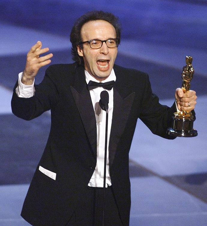 "<strong>Roberto Benigni, Life Is Beautiful, 1999<br></strong> In a moment of pure joy, Life Is Beautiful's larger than life auteur Roberto Benigni and Best Foreign Language Film winner leaped across the seats, waving his arms and bunny hopping up the stairs. His speech, delivered in a thick Italian accent, was delightful, enthusiastic and so heartfelt, ""[my parents] gave me the biggest gift of poverty. I want to thank you for that.""  He also took out Best Actor in the same form, ""this is a terrible mistake! I've already used up my English!"" So adorable."