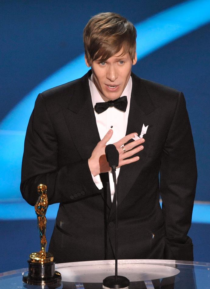 "<strong>Dustin Lance Black, 2009</strong><br> Dustin Lance Black's moving acceptance speech for Best Original Screenplay for Milk gave beautiful insight into the driving force behind the film. He shares his story of a young man inspired by Harvey Milk and makes a touching statement to the gay and lesbian children of the world, ""You are beautiful and god does love you."""