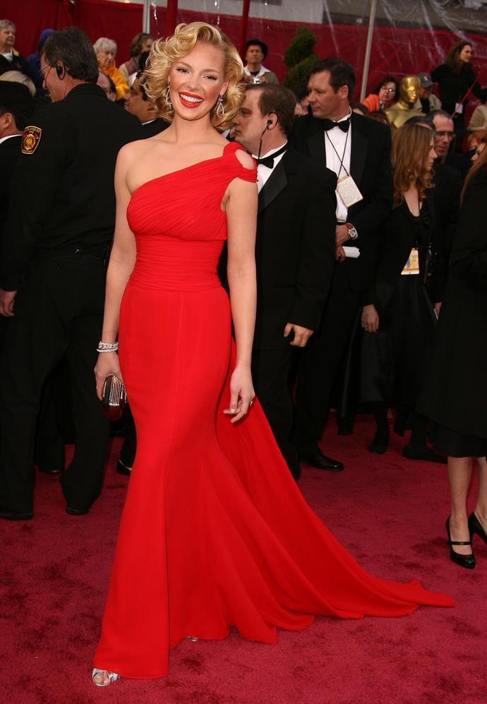 Katherine Heigl at the 80th Academy Awards, 2008, wearing Escada.