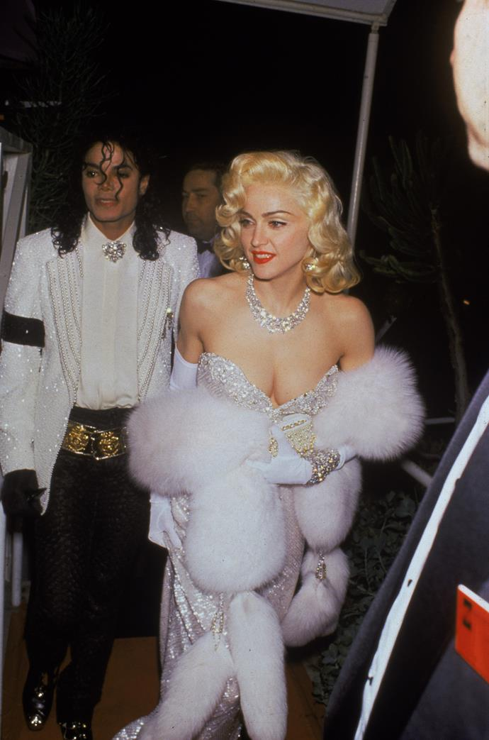 Madonna at the 64th Academy Awards, 1991. She was nominated as the performer of Best Original Song, Sooner or Later, from Dick Tracey.