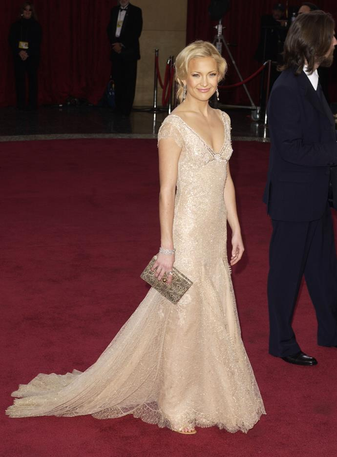 Kate Hudson at the 75th Academy Awards, 2003, wearing Atelier Versace.