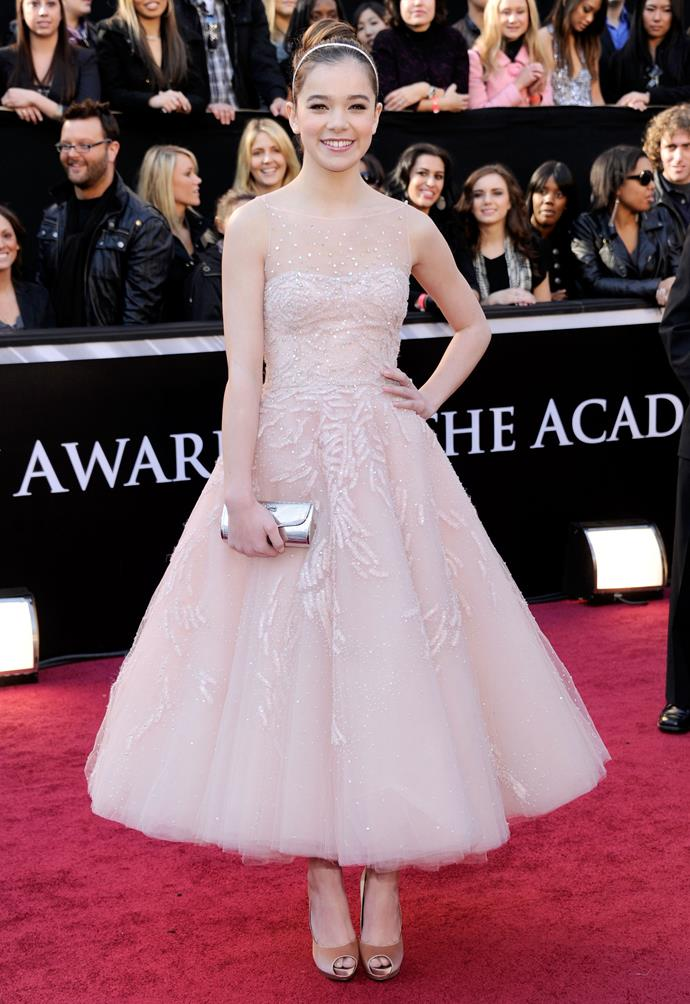 Hayley Steinfeld at the 83rd Academy Awards, 2011 wearing  Marchesa.
