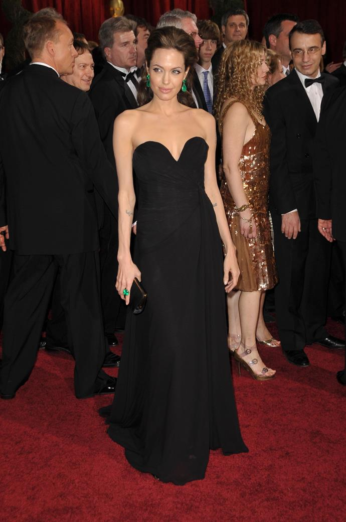 Angelina Jolie at the 81st Academy Awards, 2009, wearing Elie Saab.