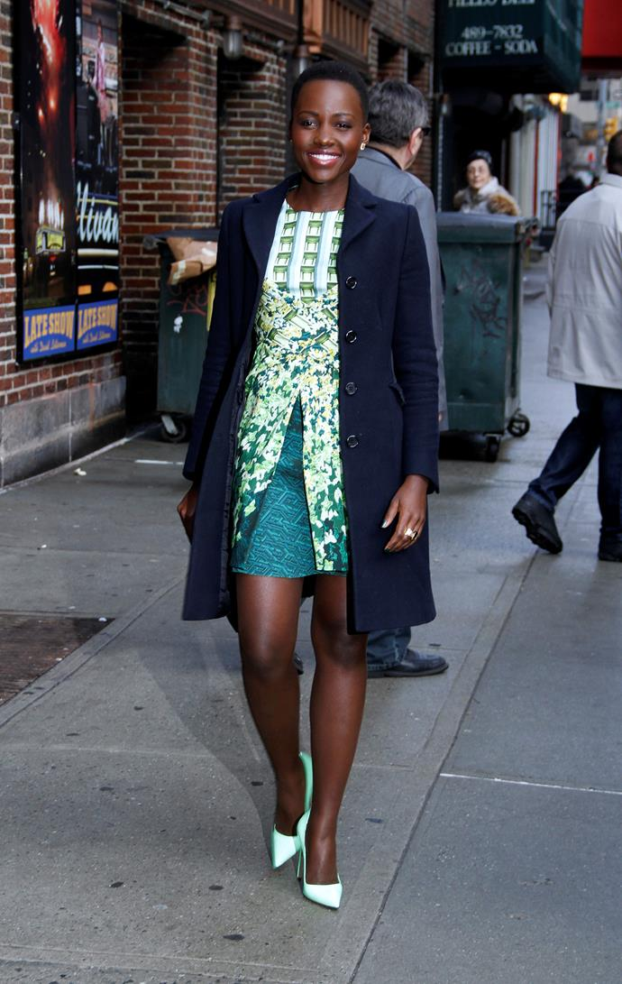 Lupita Nyong'o wearing Peter Pilotto