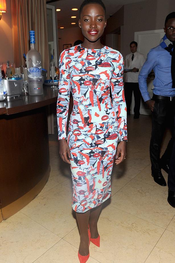 Lupita Nyong'o in Jonathan Cohen at at the Grey Goose <em>12 Years a Slave</em> Dinner
