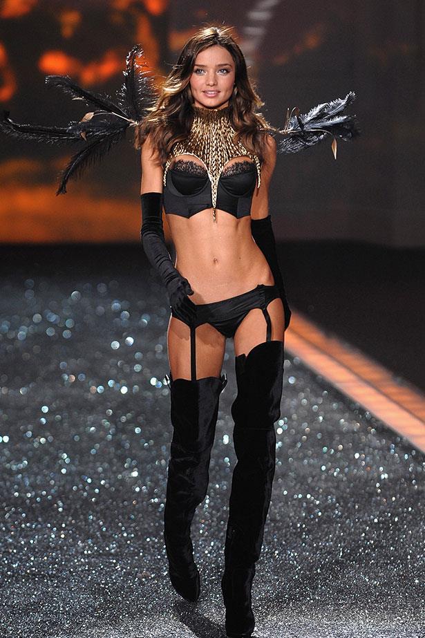 Miranda Kerr doing semi-fetish wear for Victoria's Secret in 2009