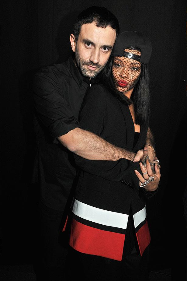 Rihanna cuddles up to Givenchy Creative Director Riccardo Tisci.