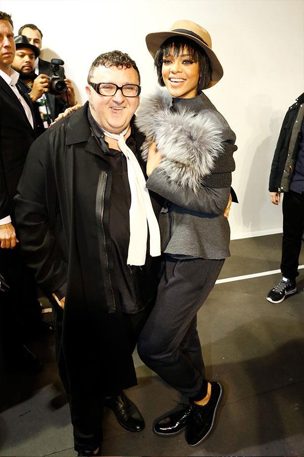 With Lanvin designer, the adorable Alber Elbaz.