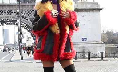 Rihanna does Paris fashion week