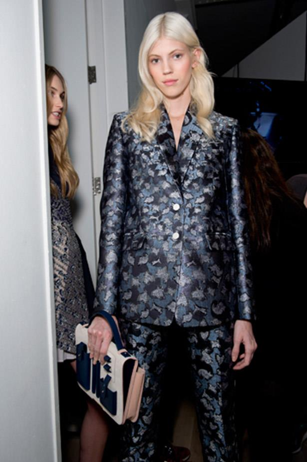 <strong>Devon Windsor</strong> <br> Possibly the IT-blonde of the season (it's a toss-up with her an Sasha Luss), 20-year-old Devon Windsor's long white hair is always pristine, she gets her roots done regularly and considering she walked over 47 shows this season, including Fendi, Emilio Pucci, Roberto Cavalli, Tom Ford, Versace, Elie Saab and Stella McCartney, it's a miracle her hair has survived the season. For some serious blondespiration follow her on Instagram @devwindsor.