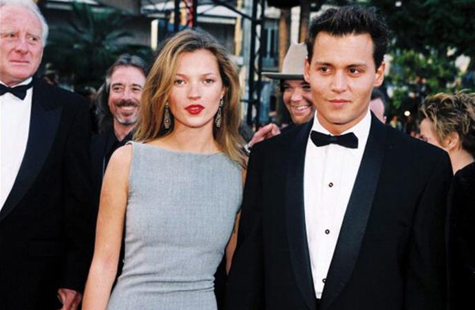 Kate Moss and Johnny Depp in Cannes, 1997
