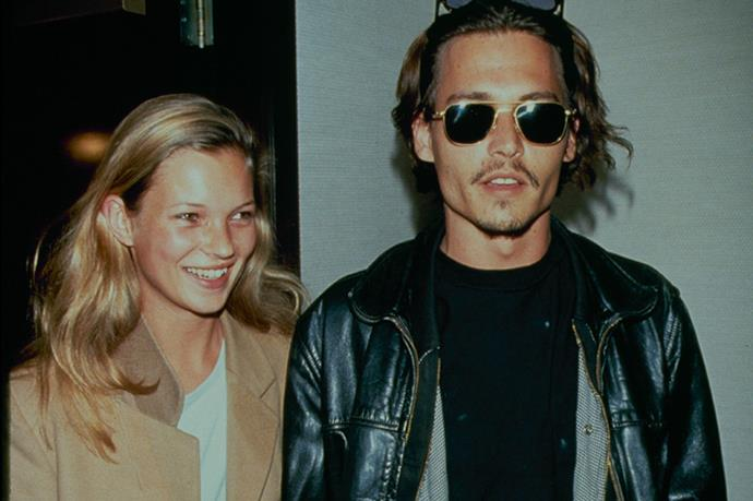 Kate and Johnny Depp out and about in 1995.