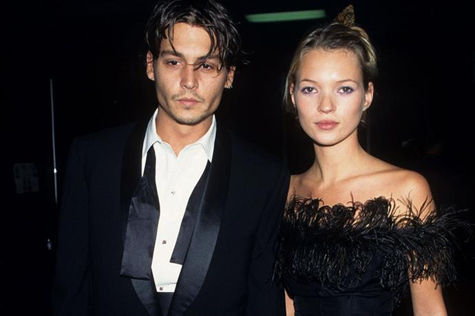 Couple chic. Kate Moss and Johnny Depp killing it at Frank Sinatra's 80th birthday.