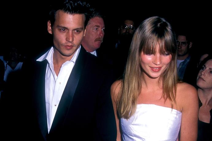 Kate Moss and Johnny Depp showing why they were an It-couple at the Don Juan De Marco premiere in 1995.