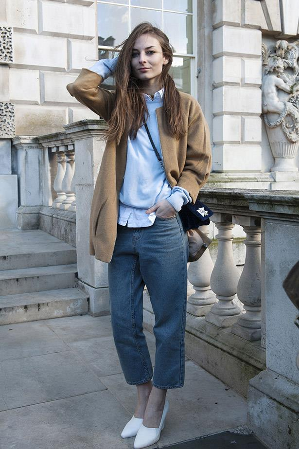 Cropped denim and a crisp white shirt: the building blocks of effortless dressing.