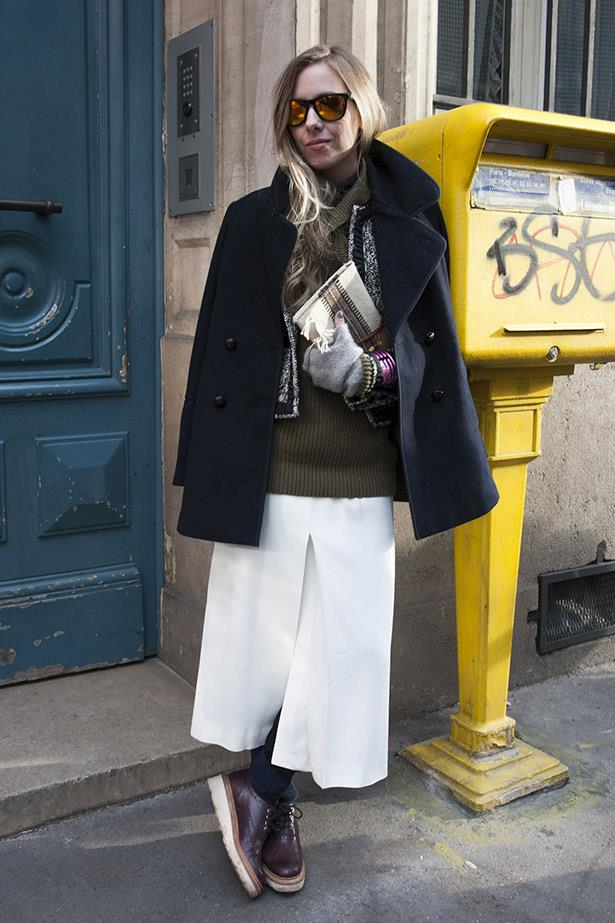 A Parisian shows why layering is key to rocking tomboy cool