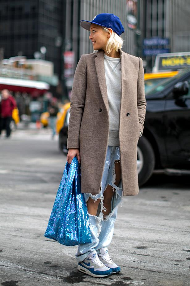 Pull together an otherwise disheveled look with a sharply tailored coat.