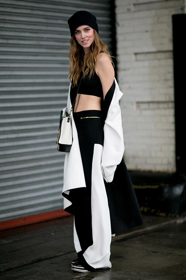 A New Yorker channels a luxe Sporty Spice at the shows.