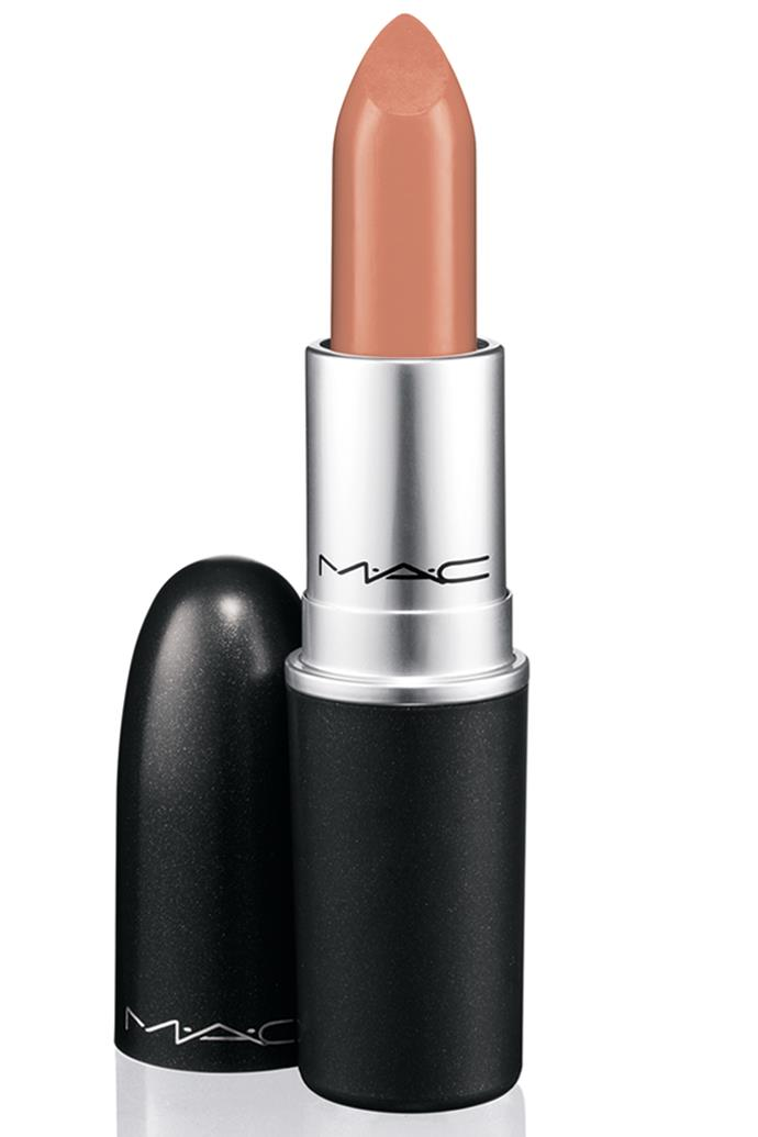 "A cult-favourite, this milky lipstick is free of yellow or pink pigments, so it's often described as the 'perfect nude' by makeup artists.<br><br> Lipstick in 'Myth', $36 at [M.A.C.](https://www.maccosmetics.com.au/product/18876/52597/products/makeup/lipstick/lipstick-nudes/satin-lipstick|target=""_blank""