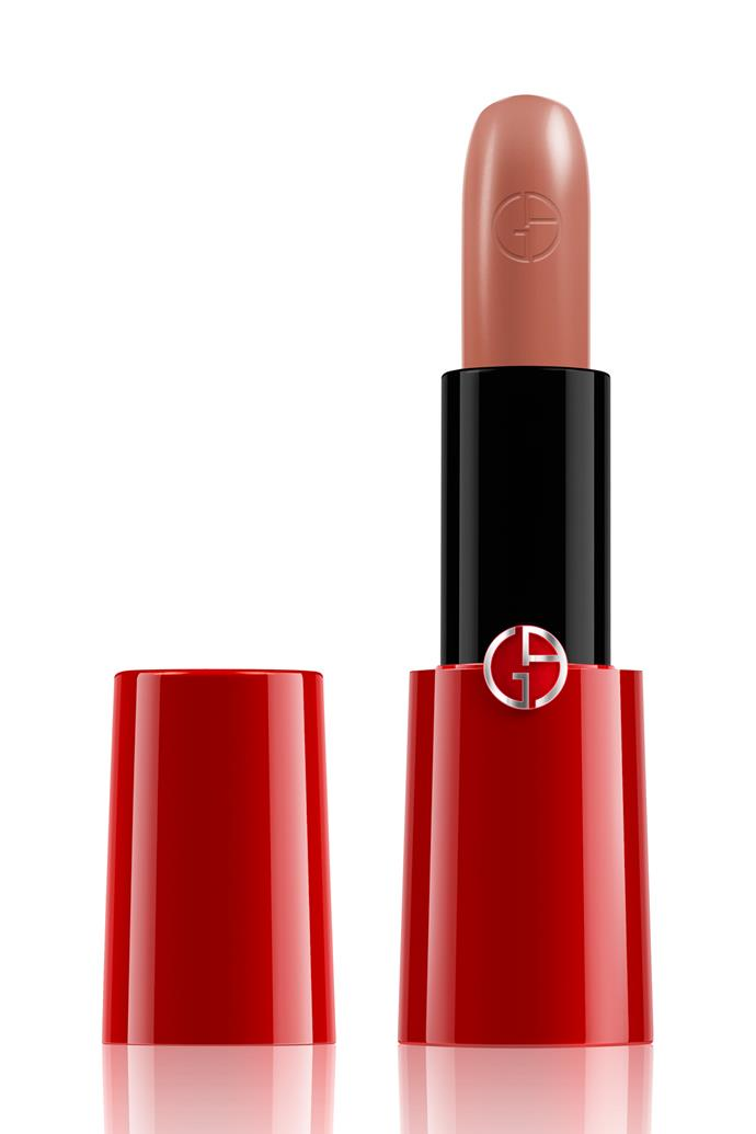 "Rouge Ecstasy is the first CC (Colour & Care) lipstick of its kind – looking after chapped, dry lips while packing a highly pigmented punch of colour.<br><br> Lipstick in '100', $55 at [Giorgio Armani](https://www.giorgioarmanibeauty.com.au/makeup/lips/lipstick/rouge-ecstasy-lipstick/AP51000.html|target=""_blank""