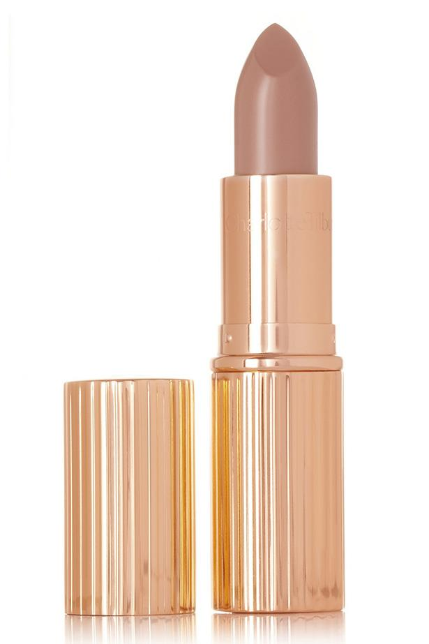 "This shade was inspired by Kate Moss and was created to be the perfect partner to the model's signature smoky eye.<br><br> Lipstick in 'Nude Kate', $49 at [Charlotte Tilbury](http://www.charlottetilbury.com/au/k-i-s-s-i-n-g-nude-kate.html|target=""_blank""