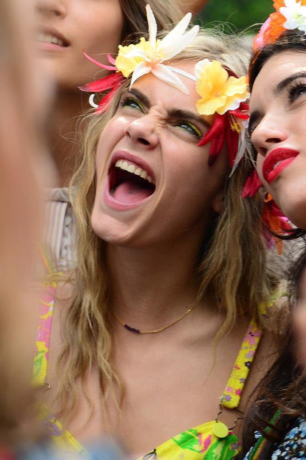 Cara Delevigne and Gala Gordon snap a selfie at Notting Hill Carnival.