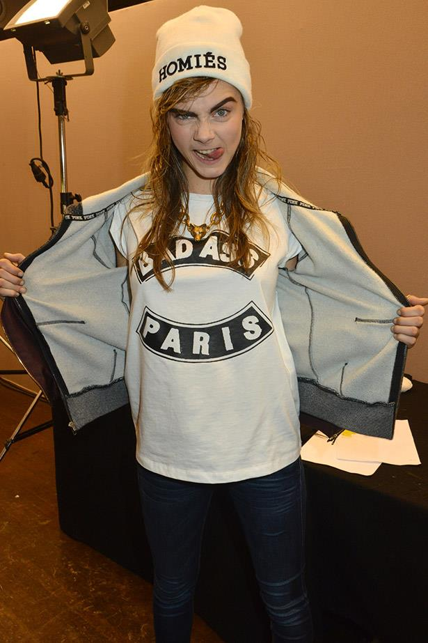 Cara Delevigne's style mantra?  Say it all with a slogan tee.