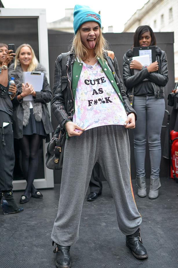 Cara Delevigne spelling it out for us all.