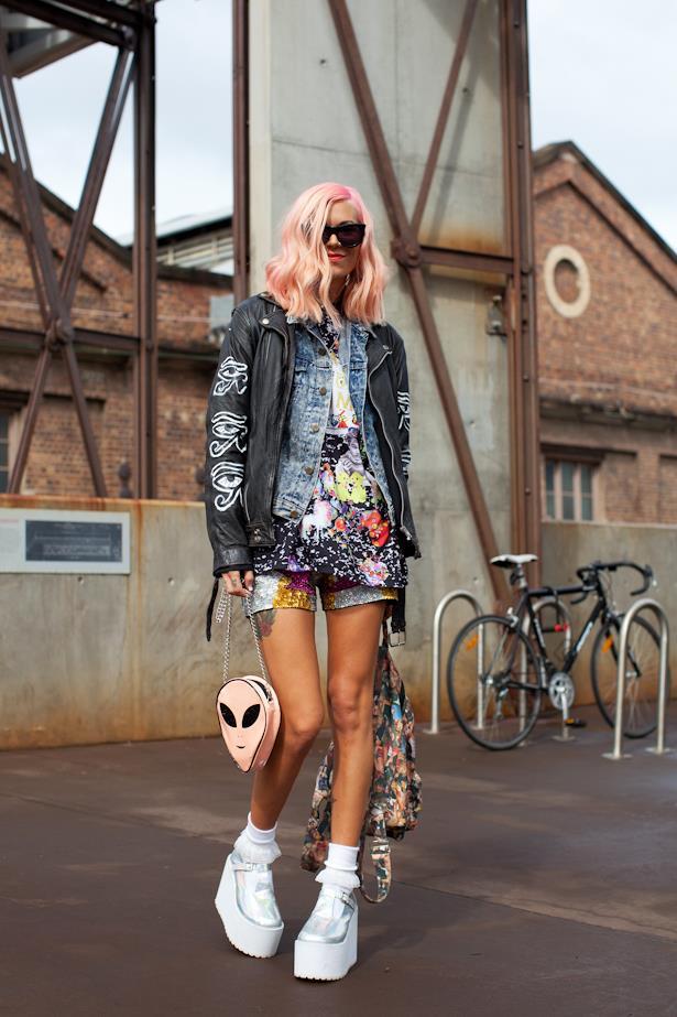 Ainsley Hutchence went glam-rock at Mercedes Benz Fashion Week Australia
