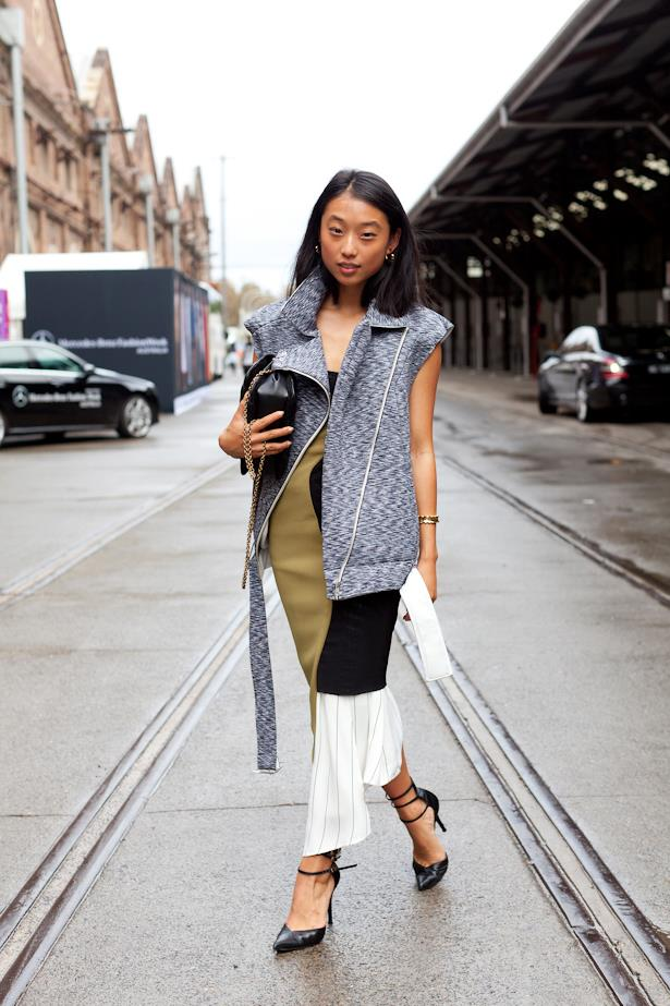 Margaret Zhang played with proportions at Mercedes Benz Fashion Week Australia