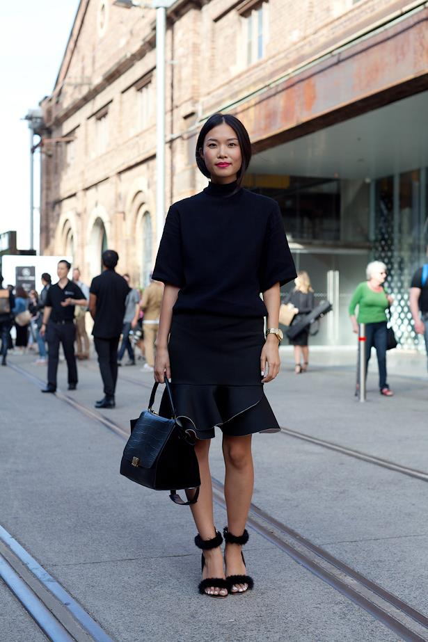 Anna Hau wears Anna Quan top, Asos skirt, And Other Story heels and Celine bag.