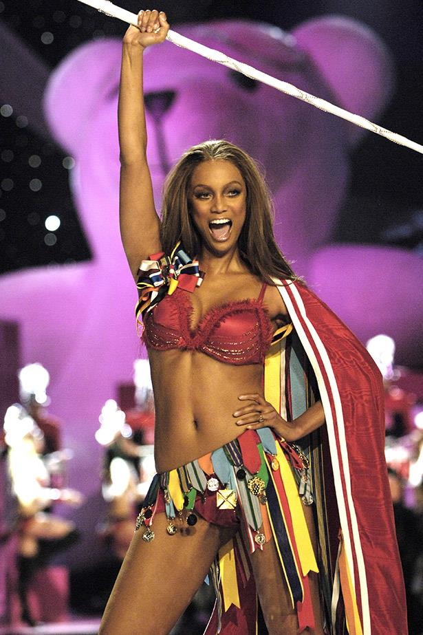 """<strong>Tyra Banks</strong> <br> <br> Also 40-years-old, Tyra """"Smize"""" Banks walked for Victoria's Secret for 8 years, until she was 32.  She is still one of the most well-respected supermodels in the industry."""