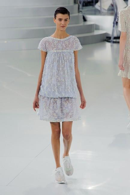 Keep things fresh with eggshell-blue tones from Chanel Haute Couture SS14