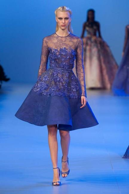 Experiment with bold hues and lacy detailing from Elie Saab Haute Couture SS14