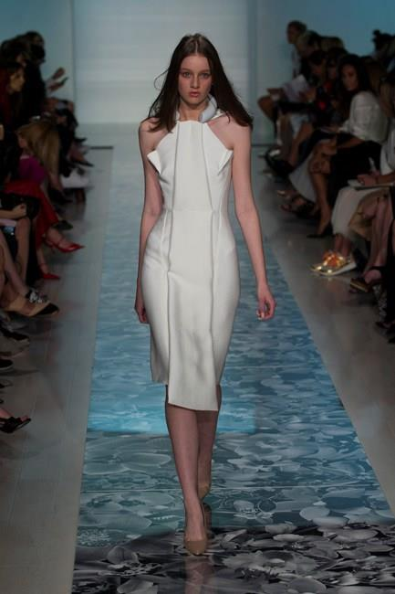 Futuristic looks stormed down the runway at Maticevski SS14-15