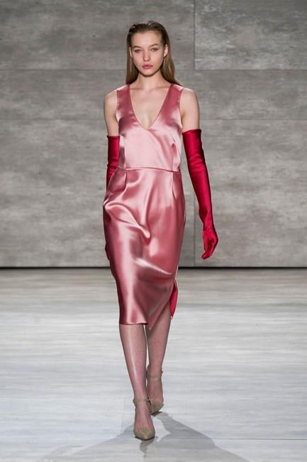 Elegant silhouettes ensure even the pinkest of pinks remains tasteful at Tome AW14-15
