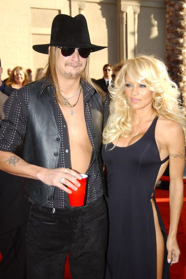 After dating for almost a year in 2002, Kid Rock and Pamela Anderson became engaged and split, eventually hooking back up in 2005, when they decided the best thing to do was get hitched in St Tropez in July 2006. They then had a second and third wedding ceremony in August and they filed for divorce by the end of November.