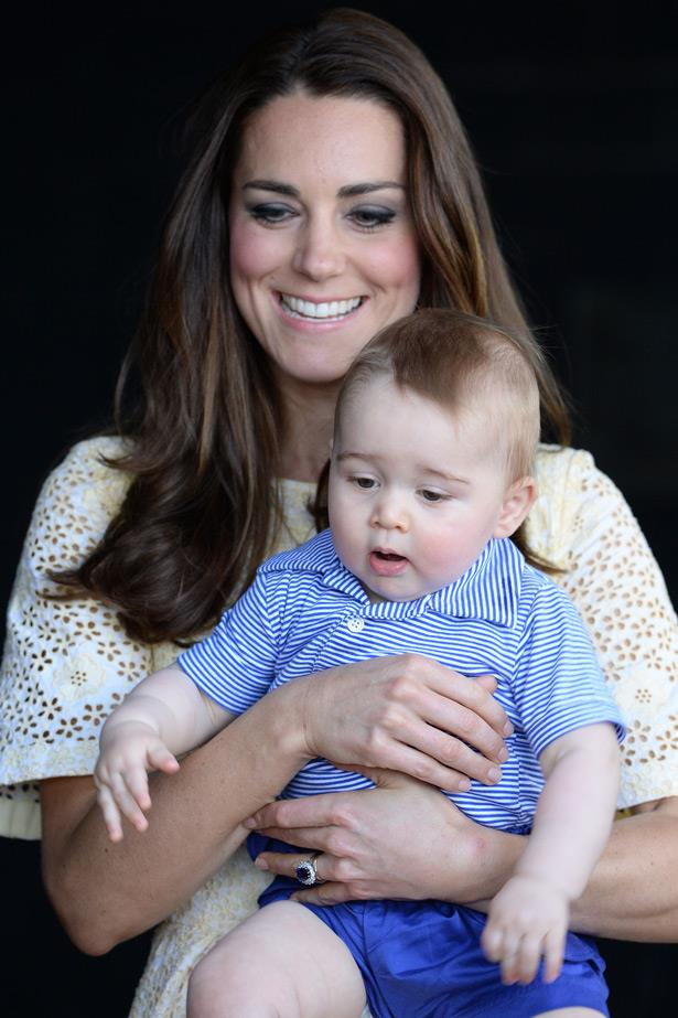 Prince George and mum clearly amused by the locals at Sydney's Taronga Zoo.
