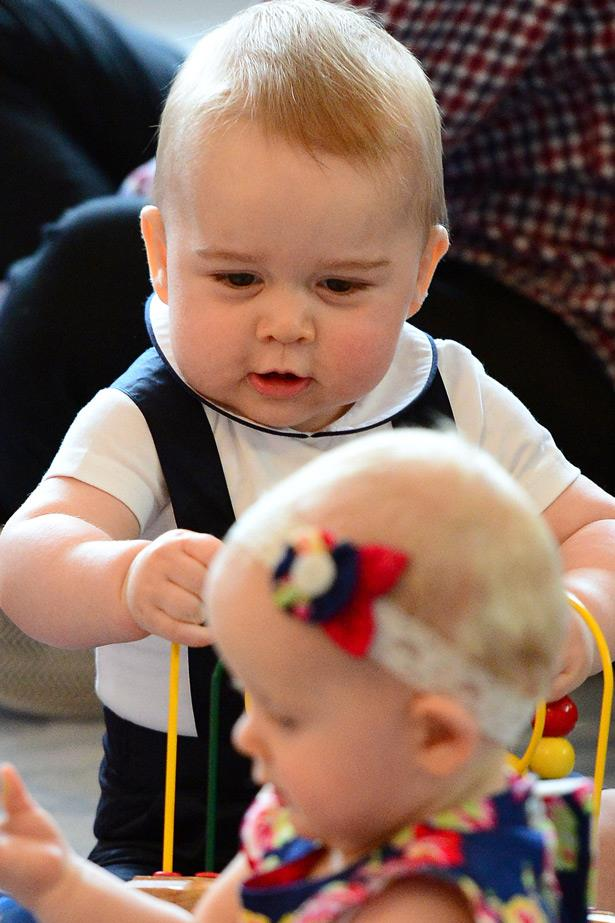 Baby Prince George takes some time out in Wellington, New Zealand to mingle.