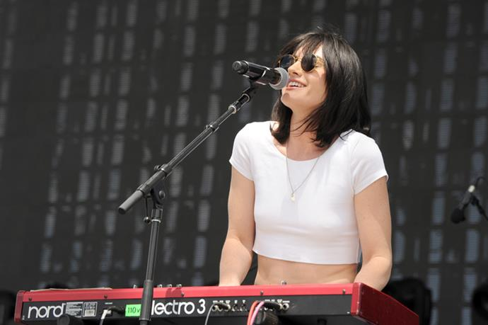 """<strong>The Preatures</strong> <br><br> As singer Isabella Manfredi, garbed in faded jeans and a plaid shirt, told the crowd, they """"flew a long way for this!"""" Eighties-sounding tracks like """"Is This How You Feel?"""" and """"Feels Better Than It Ever Could Be"""" were all recorded, produced and mixed by at their DIY studio Doldrums in Surry Hills."""