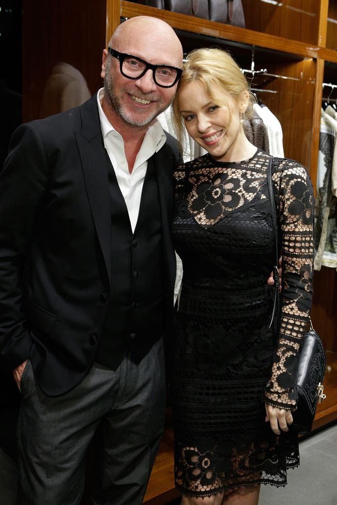 Domenico Dolce and Kylie Minogue