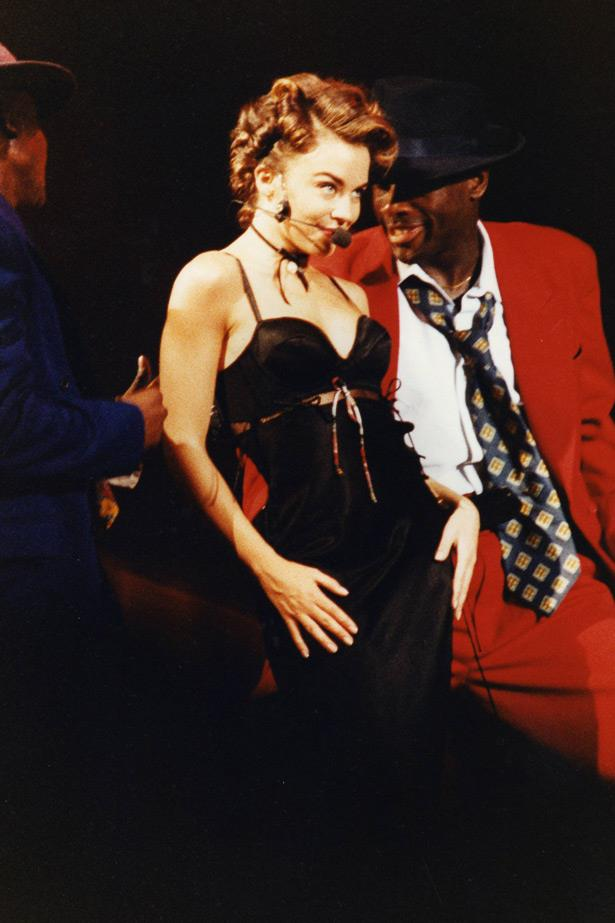 Good girl gone bad: Kylie begins to sex things up in 1991.