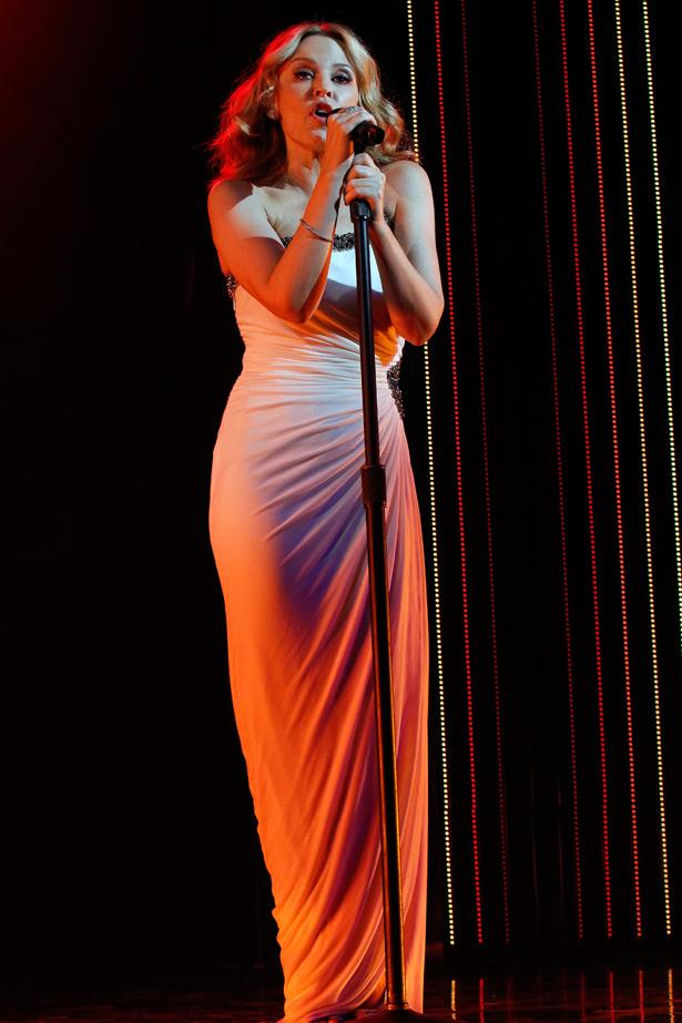 Still in her <em>Aphrodite</em> phase, Kylie was asked to perform for Roberto Cavalli at his S/S 2011 show after party.