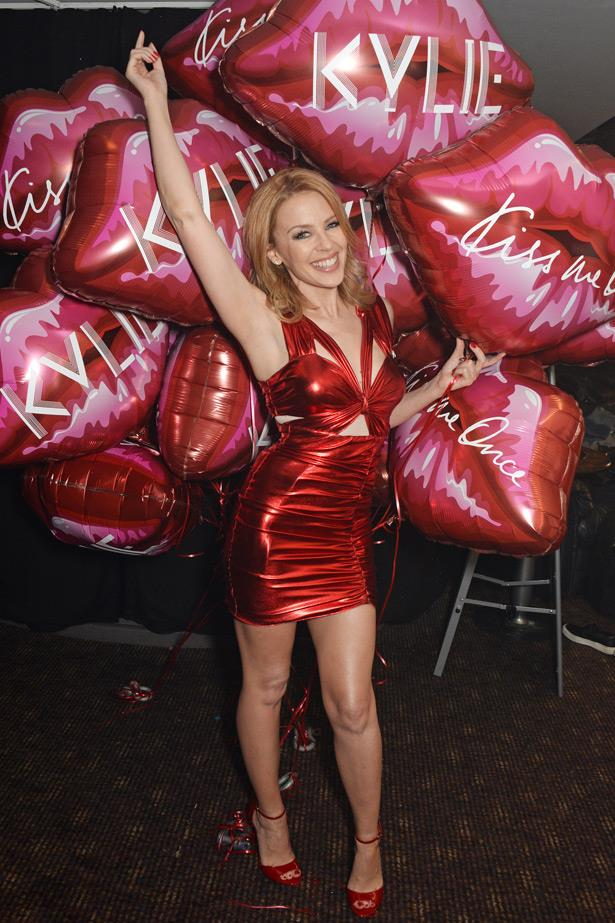 She's back! Kylie dazzles at G.A.Y in London last month to celebrate her latest single <em>Sexercise</em>.