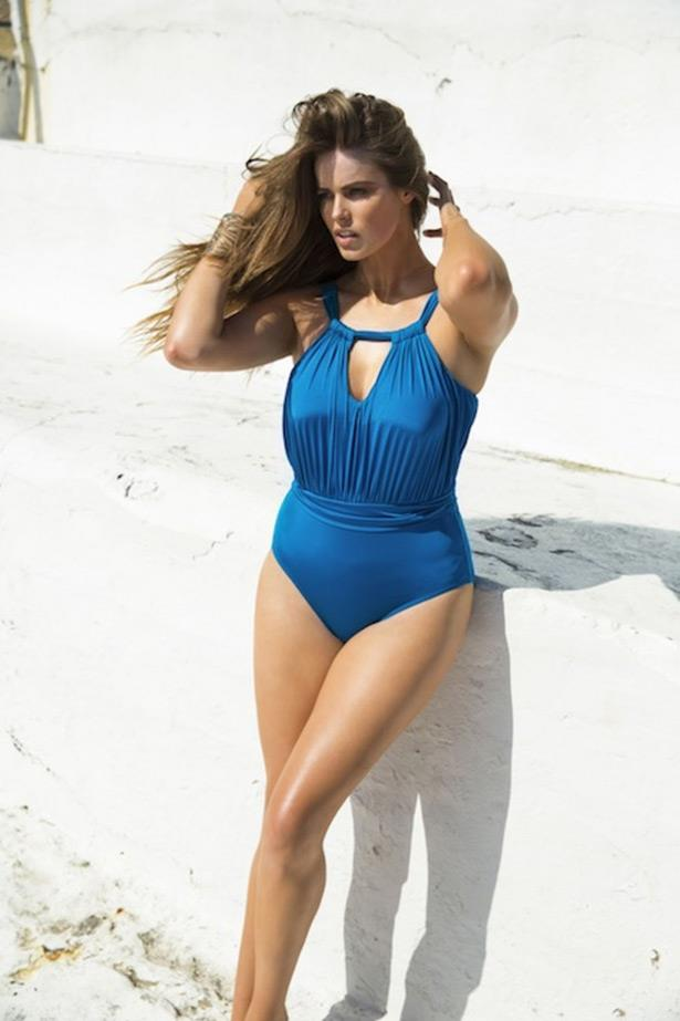A travel essential, this glamourous one-piece from her collection can be paired with a chic high-waisted skirt to take you from cruise to cocktails.