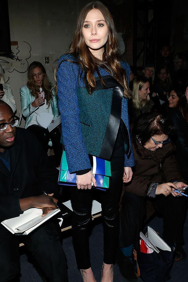 A bona fide Proenza Schouler fan, Olsen attends the A/W13 show in New York.