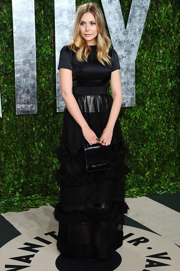 One of our favourite looks from the 2012 Vanity Fair Oscar Party, Elizabeth Olsen looked every bit the starlet in this dress from Christian Dior Pre-Fall 2012 collection.