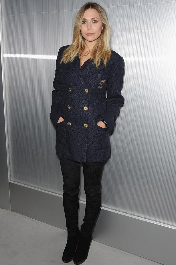 There's that Olsen sister effortless cool. Elizabeth Olsen in a classic Chanel look for the house's Spring 2012 Couture show.